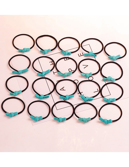 Fashion Green Bowknot Shape Decorated Hair Band (20 Pcs )