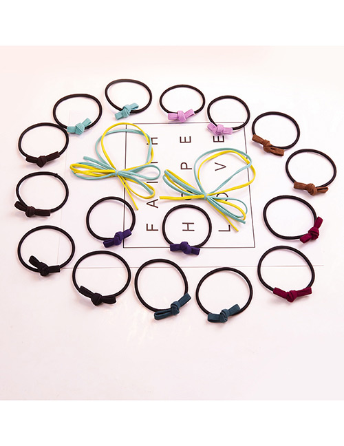 Fashion Multi-color Bowknot Shape Decorated Hair Band (18 Pcs )