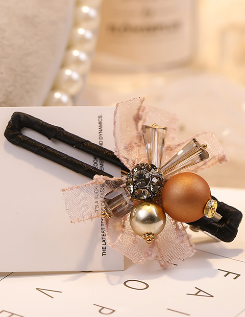 Fashion Pink Diamond&pearl Decorated Hair Clip