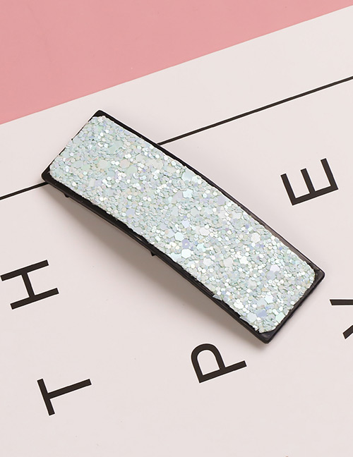 Fashion Light Green Square Shape Decorated Hair Clip