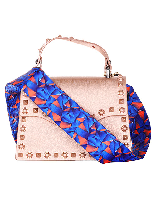 Fashion Sapphire Blue Geometry Pattern Decorated Bag Belt
