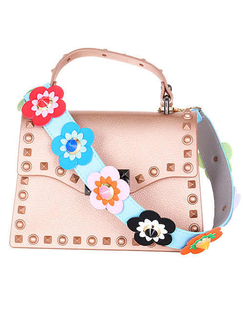 Fashion Blue Flower Shape Decorated Bag strap
