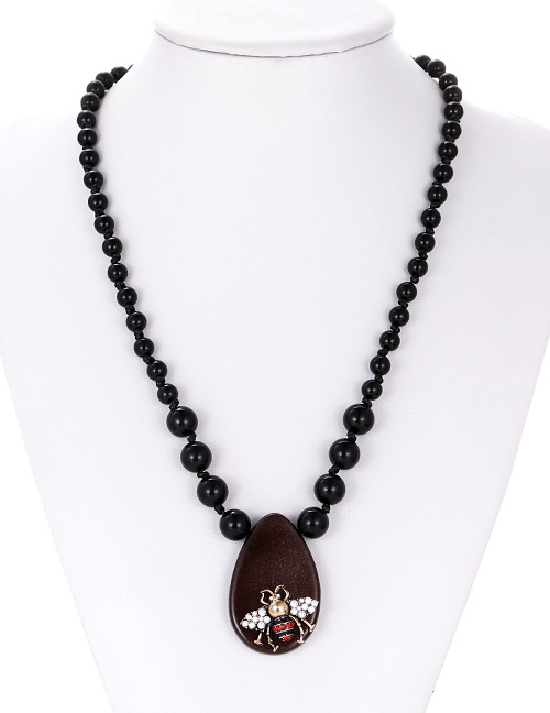 Fashion Brown Water Drop Shape Decorated Necklace