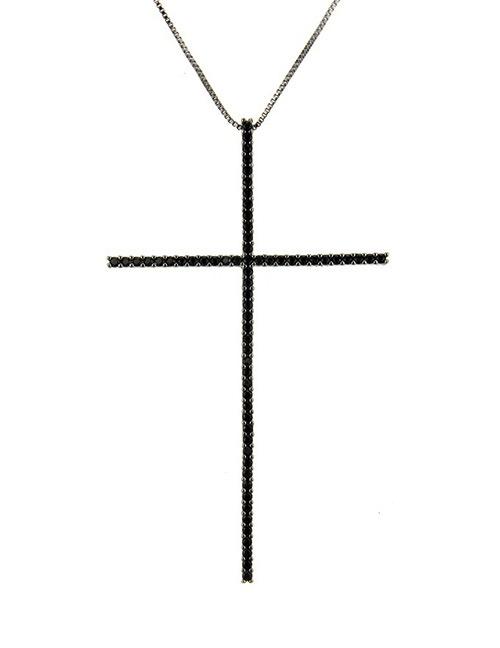 Fashion Black Cross Shape Decorated Necklace