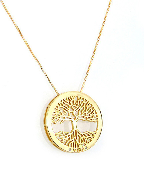 Fashion Gold Color Tree Shape Decorated Necklace