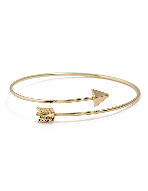 Fashion Gold Color Arrow Shape Pure Color Bracelet