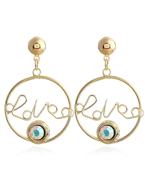 Fashion White Letter Shape Decorated Earrings
