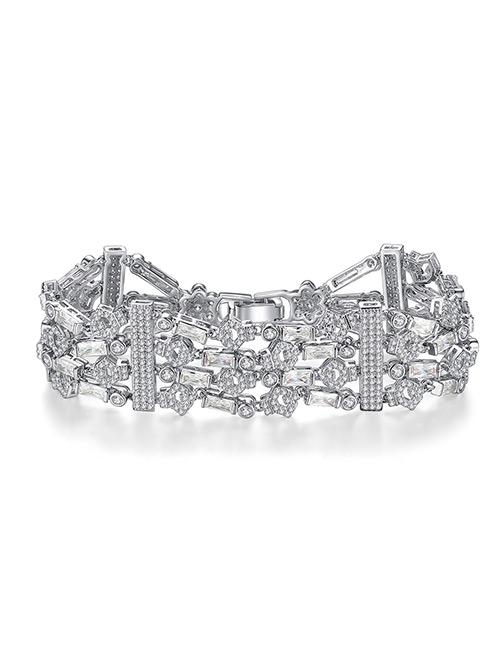 Fashion Silver Color Pure Color Decorated Bracelet