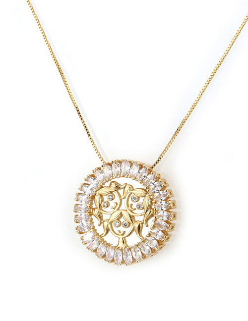 Fashion Gold Color Girl Shape Decorated Necklace
