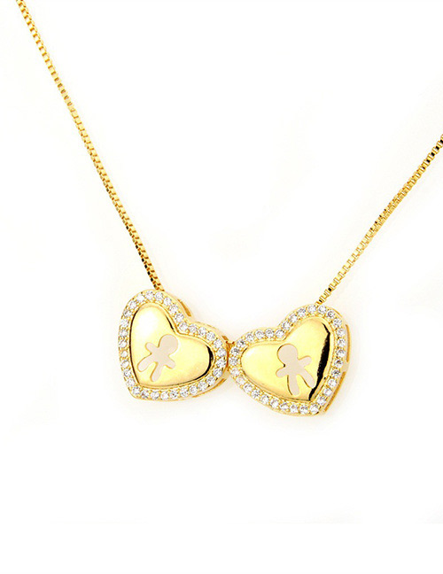 Fashion Gold Color Boy Pattern Decorated Necklace