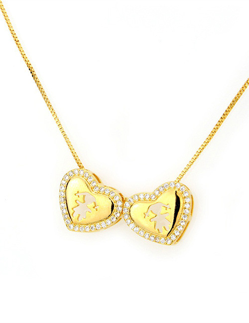 Fashion Gold Color Girl Pattern Decorated Necklace