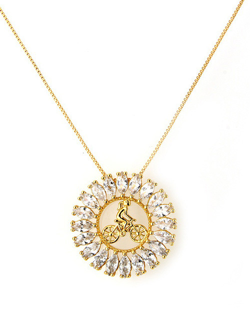 Fashion Gold Color+white Hollow Out Design Necklace