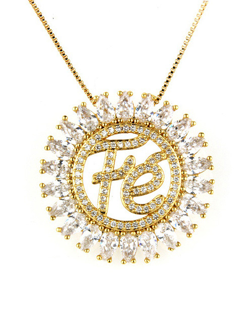 Fashion White Letter Shape Decorated Hollow Out Necklace