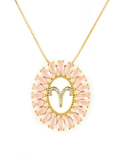 Fashion Gold Color Aries Shape Decorated Necklace