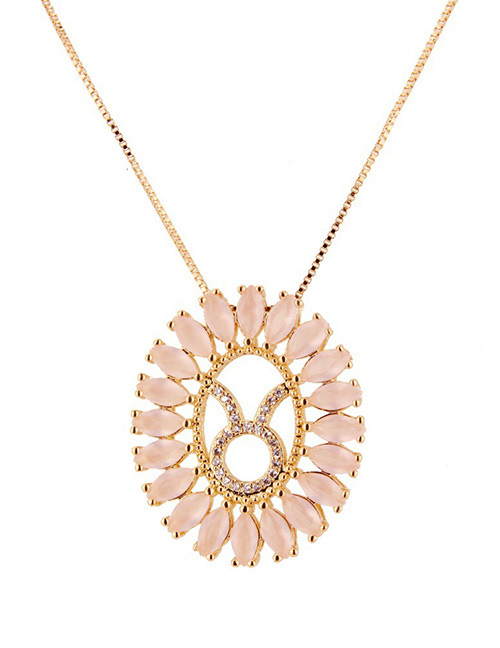 Fashion Gold Color Taurus Shape Decorated Necklace