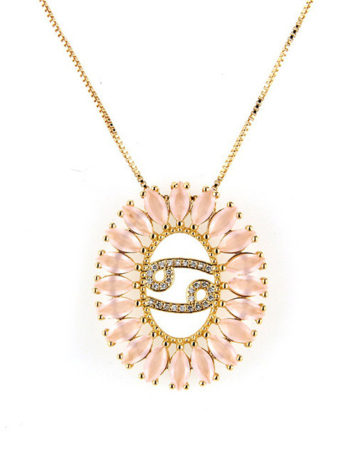 Fashion Gold Color Cancer Shape Decorated Necklace