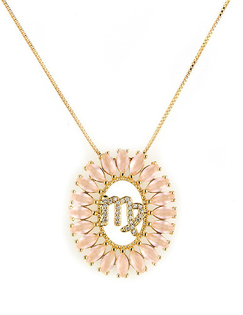 Fashion Gold Color Virgo Shape Decorated Necklace