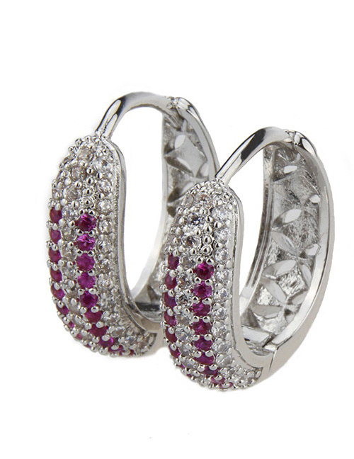 Fashion Silver Color Hollow Out Design Earrings