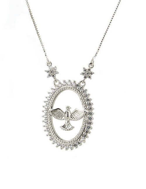 Fashion Silver Color Bird Shape Decorated Necklace