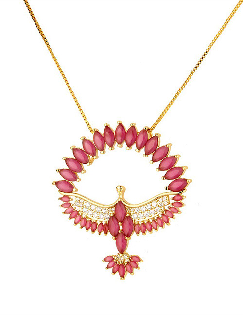 Fashion Red Bird Shape Decorated Necklace