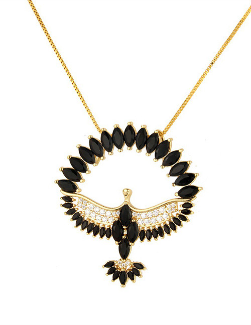 Fashion Black Bird Shape Decorated Necklace