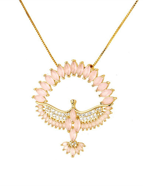 Fashion Pink Bird Shape Decorated Necklace