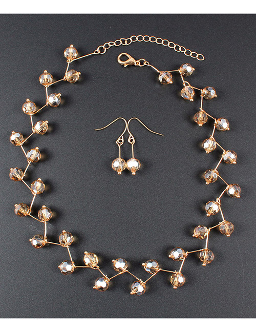 Fashion Champagne Pure Color Decorated Jewelry Set
