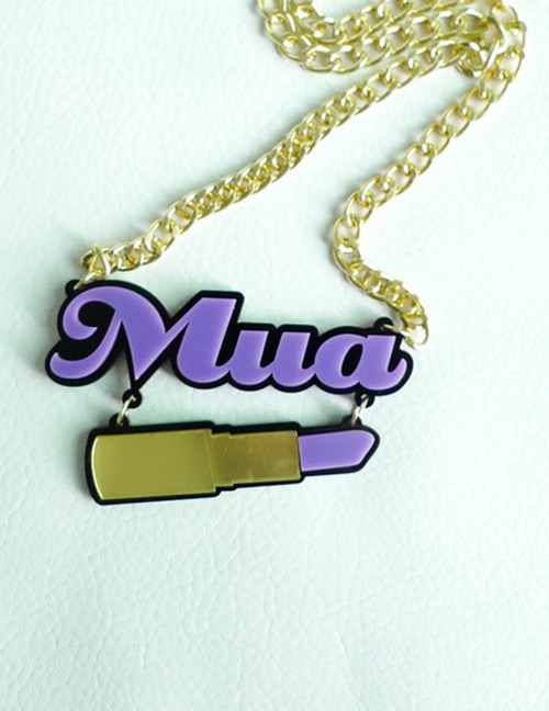Fashion Multi-color Letter Shape Decorated Necklace