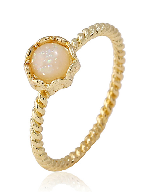 Fashion Gold Color Round Shape Decorated Pure Color Ring