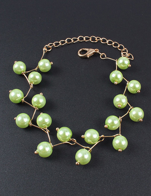 Simple Green Pure Color Decorated Bracelet