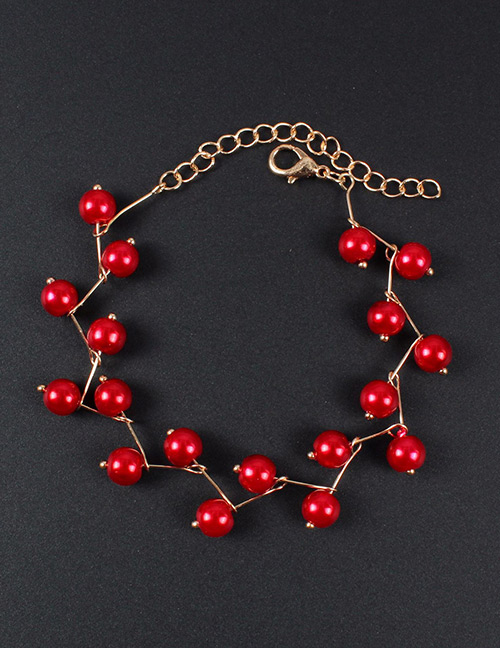 Simple Red Pure Color Decorated Bracelet
