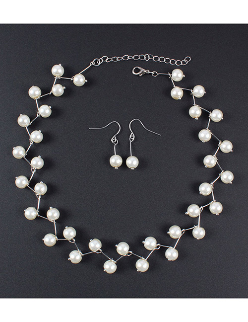 Simple Silver Color Pure Color Decorated Jewelry Set