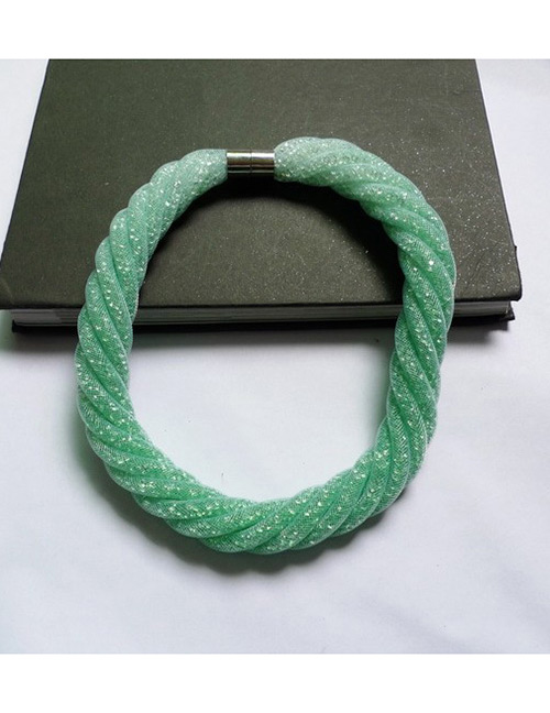 Fashion Green Pure Color Decorated Necklace