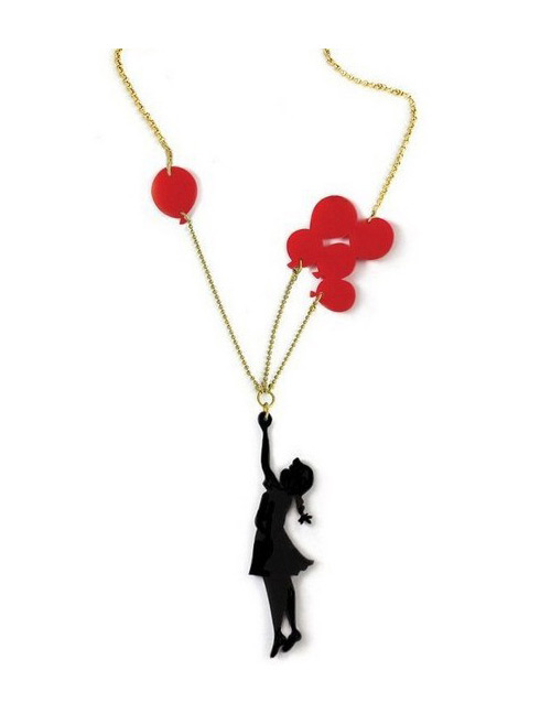 Fashion Multi-color Girl Shape Decorated Necklace