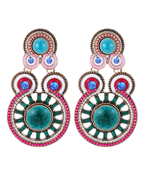 Fashion Plum Red Hollow Out Design Earrings