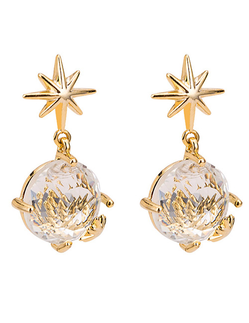 Fashion Gold Color Star Shape Decorated Simple Earrings