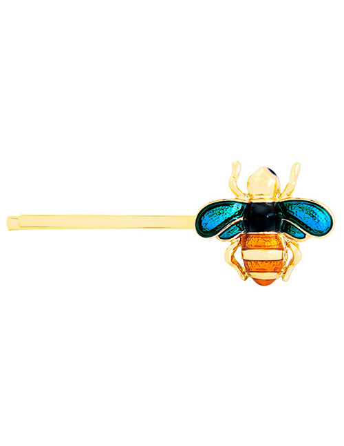 Lovely Blue+orange Bee Shape Decorated Hairpin