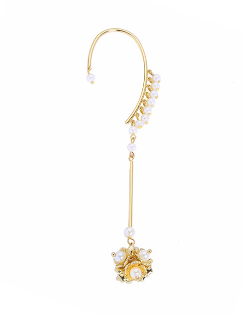 Fashion Gold Color Pearls&flower Decorated Earrings