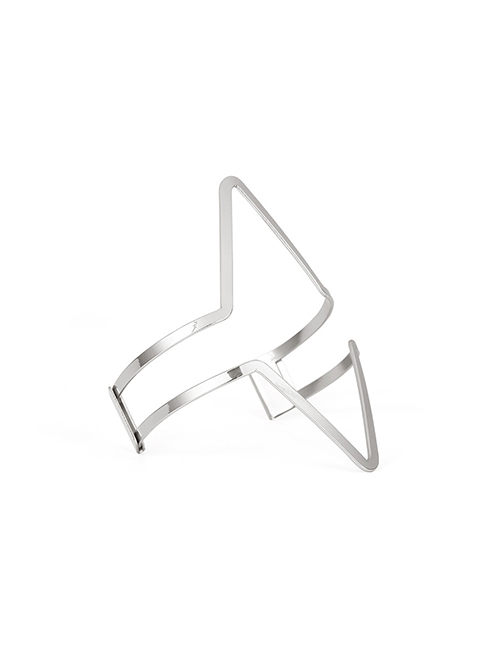 Fashion Silver Color Geometric Shape Design Pure Color Armband