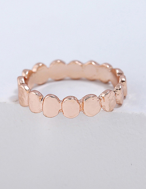 Fashion Rose Gold Wave Shape Design Pure Color Ring