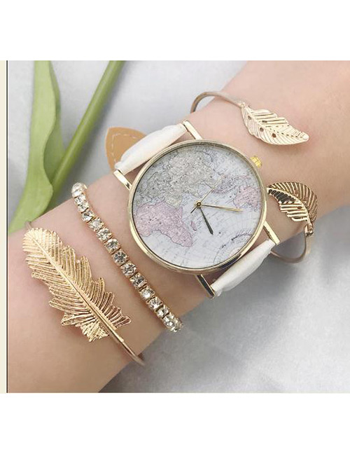 Fashion Gold Color Diamond≤af Deccorated Bracelet(3pcs)