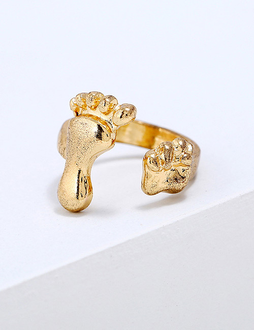 Lovely Gold Color Opening Design Pure Color Ring