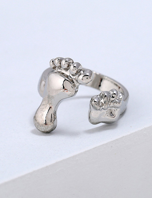 Lovely Silver Color Opening Design Pure Color Ring