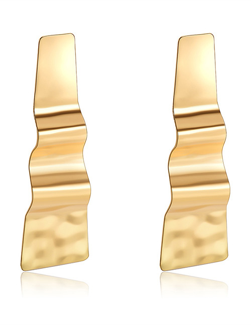 Elegant Gold Color Pure Color Decorated Long Earrings