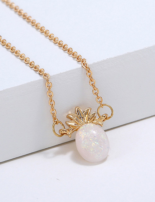 Fahion Gold Color Pineapple Shape Decorated Necklace