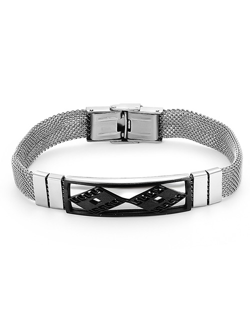 Fashion Silver Color Rhombus Shape Decorated Bracelet