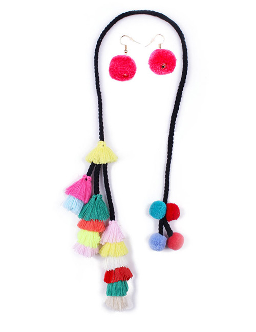 Fashion Multi-color Tassel Decorated Jewelry Sets