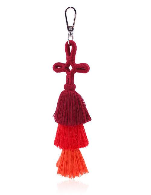 Fashion Red Tassel Decorated Keychain