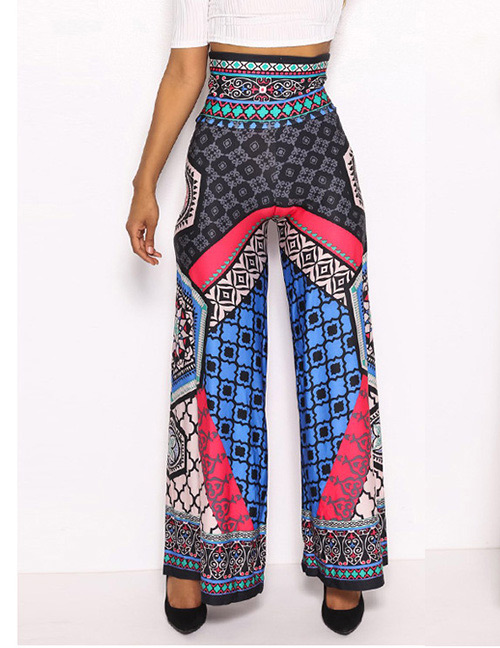 Fashion Multi-color Geometric Pattern Decorated Pants