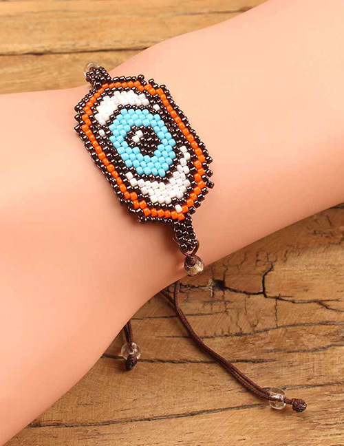 Fashion Brown Eye Shape Decorated Bracelet